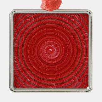 錯覚12抽象芸術 シルバーカラー正方形オーナメント