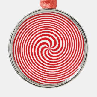 錯覚 シルバーカラー丸型オーナメント