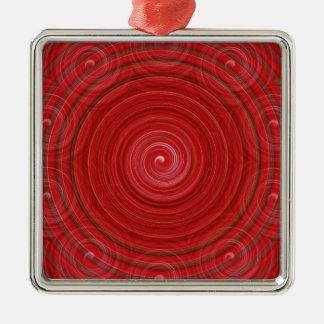 錯覚 シルバーカラー正方形オーナメント