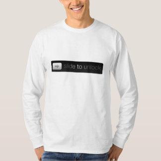 鍵が開くために滑らせて下さい Tシャツ