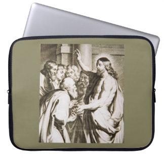 「鍵のイメージのキリストが付いている電子工学のバッグ ラップトップスリーブ