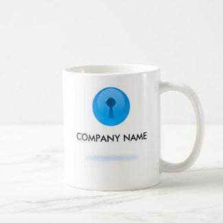 鍵穴のカスタマイズ可能なマグが付いている青い球 コーヒーマグカップ