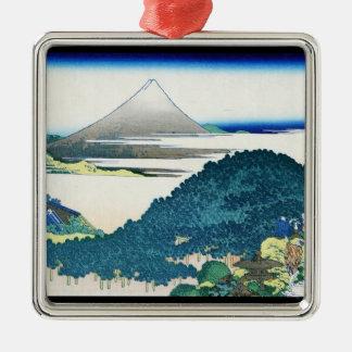 鎌倉Hokusaiの7 leagesの海岸 メタルオーナメント