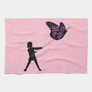 鎖の台所タオルの蝶 キッチンタオル