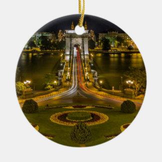 鎖式吊り橋ブダペスト セラミックオーナメント