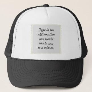 鏡のデザインの帽子のあなたの断言 キャップ