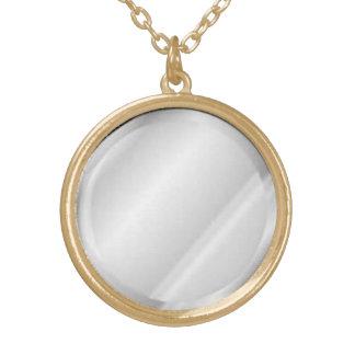 鏡のペンダントのネックレス ゴールドプレートネックレス