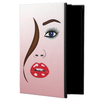 鏡のPowisのiCaseのiPadの空気場合の口紅の顔 iPad Airケース