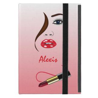 鏡のPowisのiCaseのiPad Miniケースの顔の口紅 iPad Mini ケース