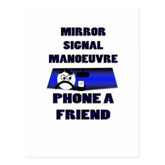 鏡信号の操縦の電話友人 ポストカード