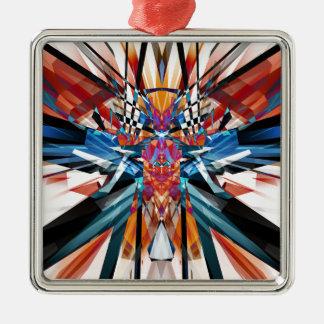 鏡像の抽象芸術 メタルオーナメント