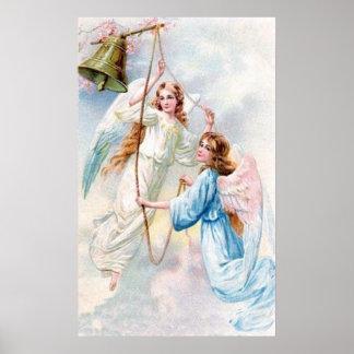 鐘とのかわいらしい天使 ポスター