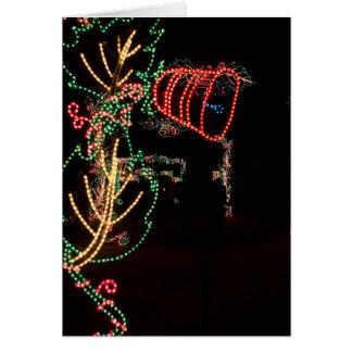 鐘の木ライト彫刻 カード