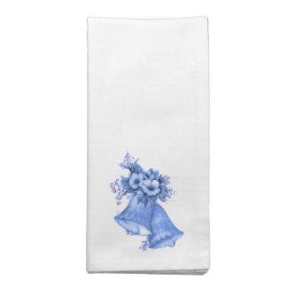 鐘の青いナプキン ナプキンクロス