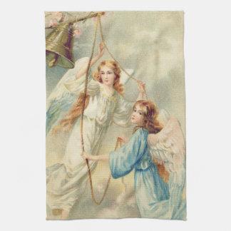 鐘を鳴らす天使の天使の天国 キッチンタオル