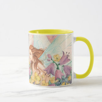 鐘及びキンボウゲ マグカップ