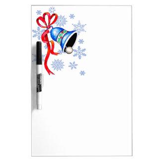 鐘及び雪片の乾燥消去板 ホワイトボード