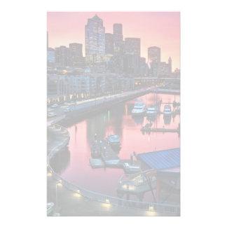 鐘港で見る桟橋66の日の出 便箋