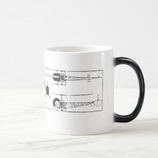 鐘47のヘリコプターのコーヒー・マグ モーフィングマグカップ