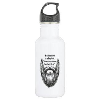 長いひげの黒ライン仕事 ウォーターボトル