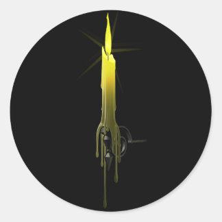 長いワックスの蝋燭のステッカー ラウンドシール