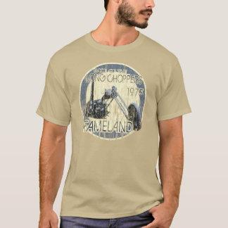 長いヴィンテージのチョッパーの競争のTシャツ Tシャツ