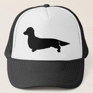 長い毛のダックスフントの球の帽子 キャップ