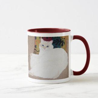 長い毛の国内猫のマグ マグカップ