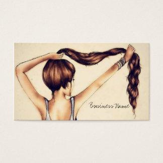 長い毛の美しい 名刺