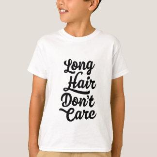 長い毛は子供のTシャツを気にしません Tシャツ