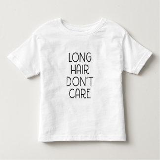 長い毛は幼児のTシャツを気にしません トドラーTシャツ