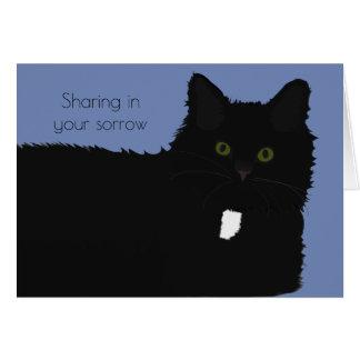 長い毛猫ペット悔やみや弔慰カード カード