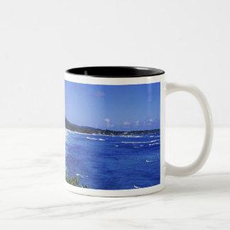 長い湾、港Antonio、ジャマイカ ツートーンマグカップ