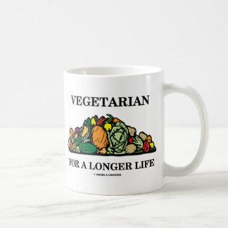 長い生命(菜食主義の態度)のベジタリアン コーヒーマグカップ