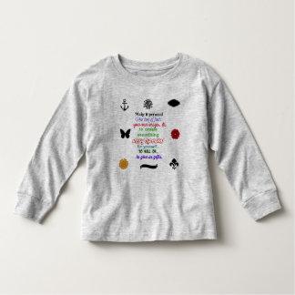 長い袖のベビーのワイシャツを個人化するために用意して下さい トドラーTシャツ