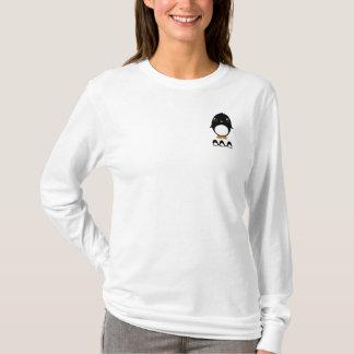 長い袖の女性のTシャツのpinguin Tシャツ