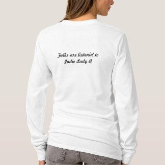 長い袖T Tシャツ