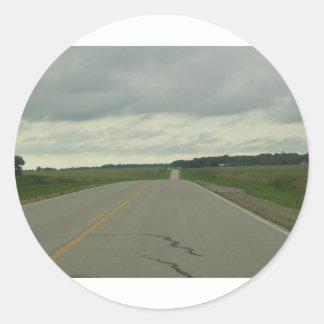 -長い道のり-芝生を運転する国 ラウンドシール