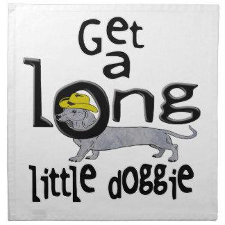 長く小さい小犬に小型ダックスフント犬を得て下さい ナプキンクロス