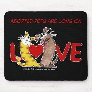 長く愛猫および犬で マウスパッド