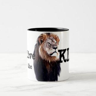 長く王は住んでいます! ツートーンマグカップ