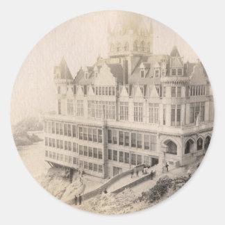 長く行く古いホテル、 ラウンドシール