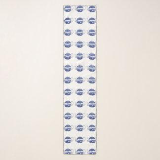 長く青いヤナギのティーポットのシフォンのスカーフ スカーフ