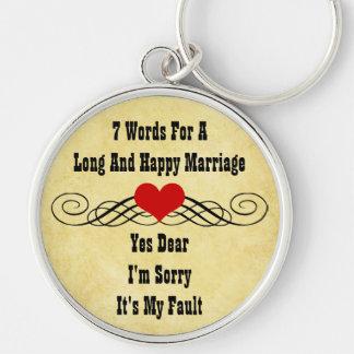 長く、幸せな結婚のための7ワード キーホルダー