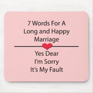 長く、幸せな結婚のための7ワード マウスパッド