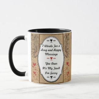 長く、幸せな結婚のための7ワード マグカップ
