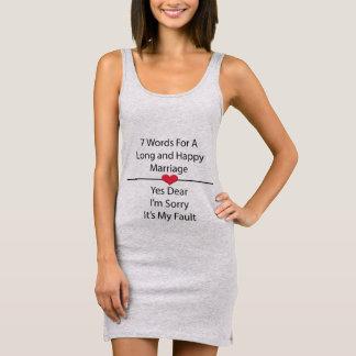 長く、幸せな結婚のための7ワード 袖なしドレス