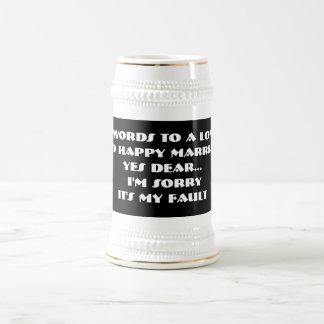 長く、幸せな結婚-ステインへの7ワード ビールジョッキ