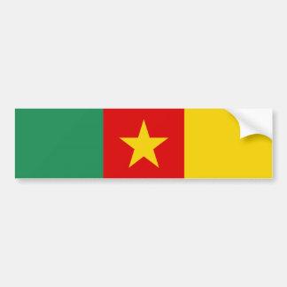 長のカメルーンの国旗の記号 バンパーステッカー