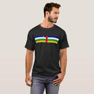 長の中央アフリカの国旗の記号 Tシャツ